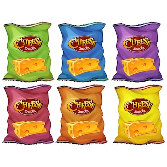 Colección de bolsas de patatas fritas