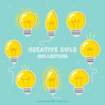 Colección de bombillas creativas