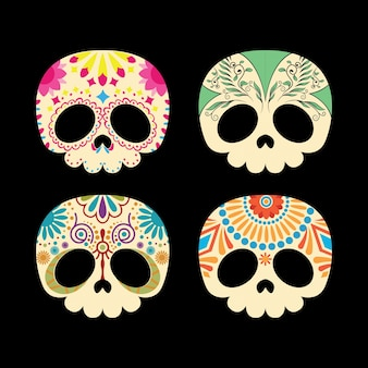 Colección de bonitas calaveras mexicanas
