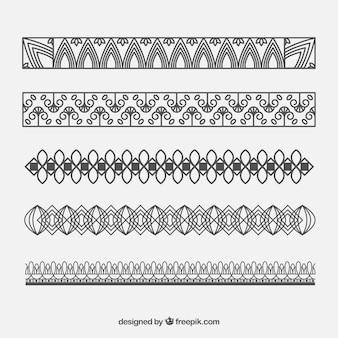 Colección de bordes de adorno para certificados