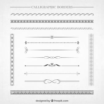 Colección de bordes caligráficos