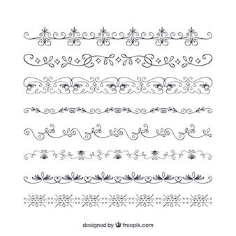 Colección de bordes decorativos para certificado