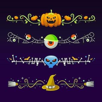 Colección de bordes del festival de halloween