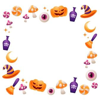 Colección de bordes de halloween realistas