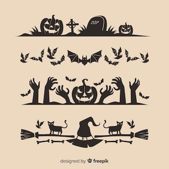 Colección de bordes para halloween