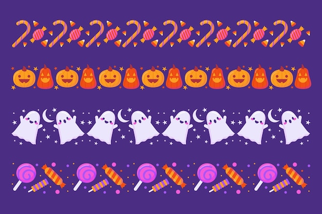 Colección de bordes de halloween
