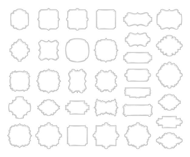Colección de bordes y marcos.