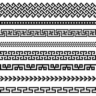 Colección de bordes negros