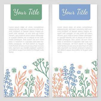 Colección botánica de banners