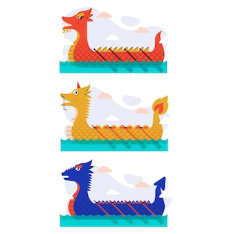 Colección de botes dragón