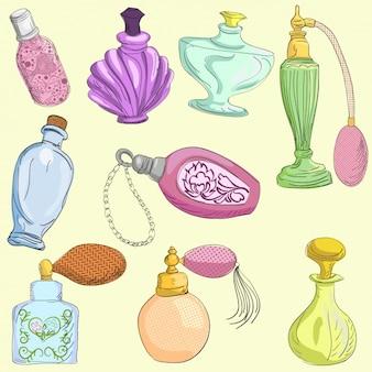 Colección de botes de perfume