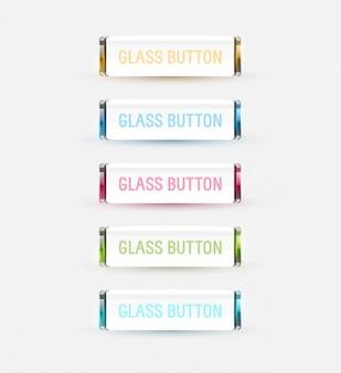 Colección de botones de cristal de color