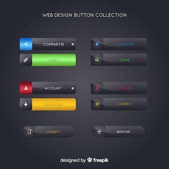 Colección botones diseño web
