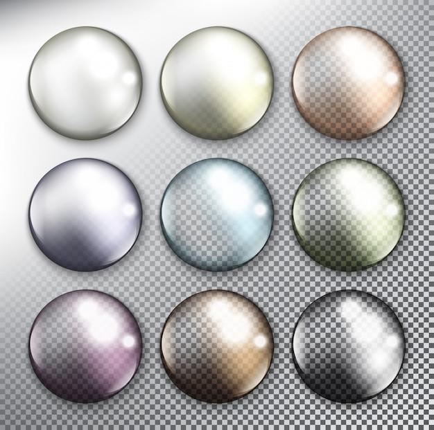 Colección de botones web de vectores