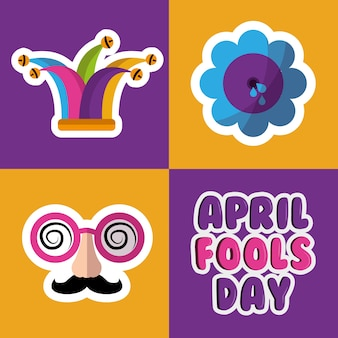 Colección broma trucos tontos celebración del día
