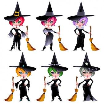 Colección de brujas a color
