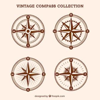 Colección de brújulas vintage