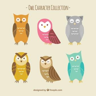Colección de búhos graciosos