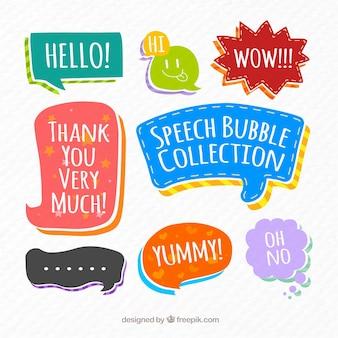 Colección de burbujas de cómic