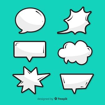 Colección de burbujas de discurso cómico vacío