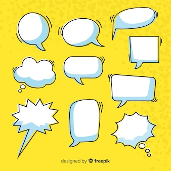 Colección de burbujas de discurso cómico