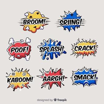 Colección de burbujas de texto de comic