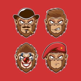 Coleccion de cabezas de monos