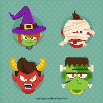 Colección de cabezas de monstruos