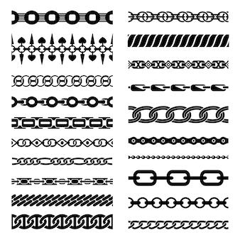 Colección de cadenas horizontales