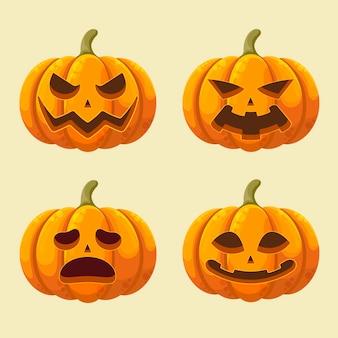 Colección de calabazas del festival de halloween