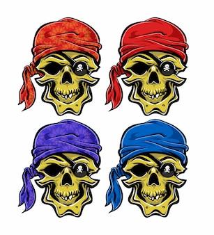 Colección de calaveras piratas