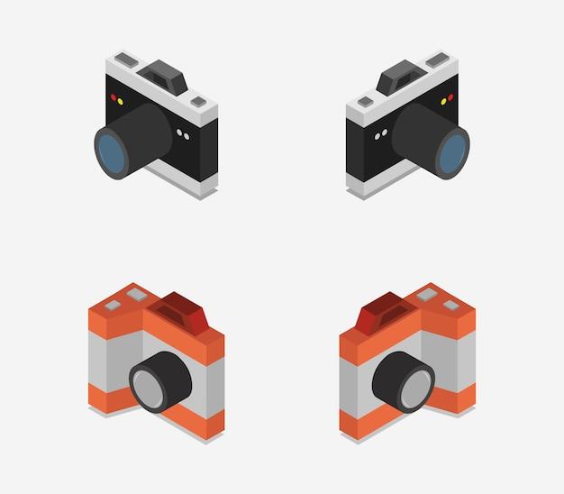 Colección de cámaras isométricas