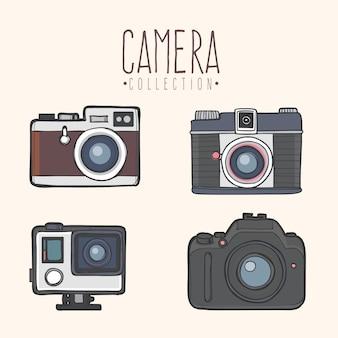 Colección de cámaras modernas