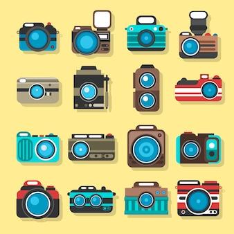 Colección de cámaras con objetivos grandes
