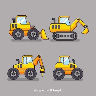 Colección camiones de construcción planos
