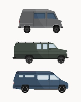 Colección de camionetas de dibujos animados