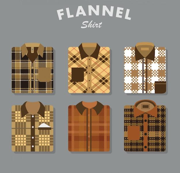 Colección de camisas de franela