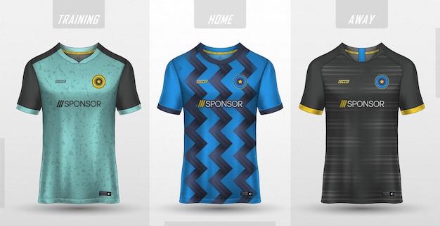 Colección de camisetas de fútbol premium