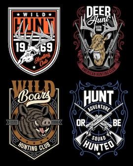 Colección de camisetas gráficas de caza