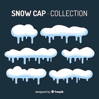 Colección de capas de nieve