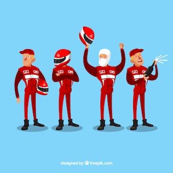 Colección de caracteres de carreras