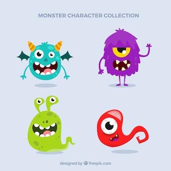 Colección de caracteres de diferentes monstruos