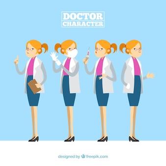 Colección de caracteres de doctoras