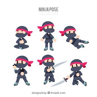 Colección de caracteres de ninja