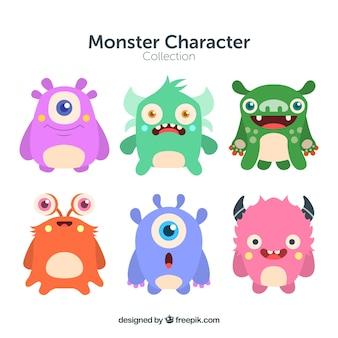 Colección de caracteres de varios monstruos
