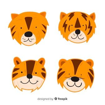 Colección caras tigre monas