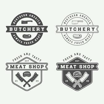Colección de carne de carnicería vintage