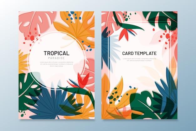 Colección de cartas tropicales
