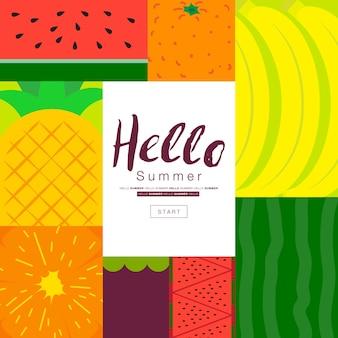 Colección de carteles de frutas