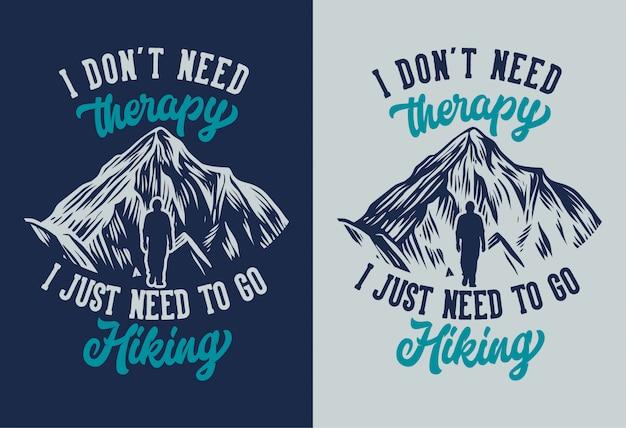 Colección de carteles de senderismo de montaña